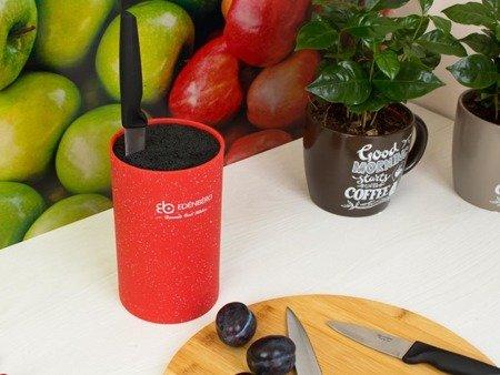 Blok Edenberg EB 5101 R uniwersalny stojak do noży kuchennych Czerwony Marmur