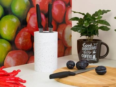 Blok Krisberg KR 7526 uniwersalny stojak do noży kuchennych Biały Marmur