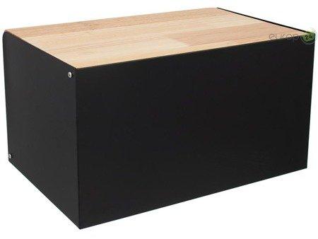 Chlebak Klausberg KB 7386 metalowy pojemnik na pieczywo deska czarny