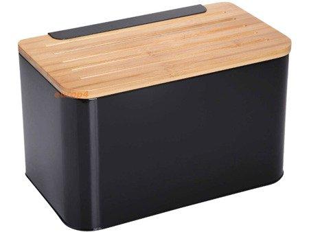 Chlebak metalowy czarny KonigHOFFER KH Negro pojemnik na pieczywo