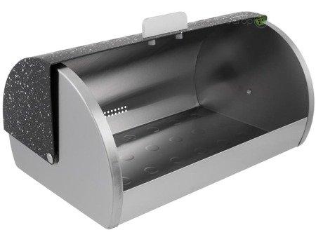 Chlebak stalowy Klausberg KB 7402 metalowy pojemnik na pieczywo czarny