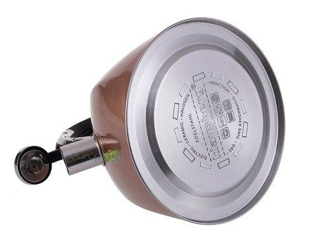 Czajnik Klausberg KB 7202 stalowy z gwizdkiem