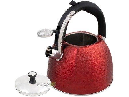 Czajnik Klausberg KB 7338 Tradycyjny stalowy z gwizdkiem 3L Czerwony