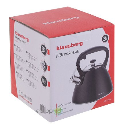 Czajnik Stalowy Klausberg KB 7208 z gwizdkiem