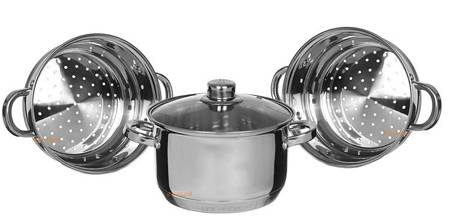 Garnek Edenberg EB 8906 22 cm garnki do gotowania na parze