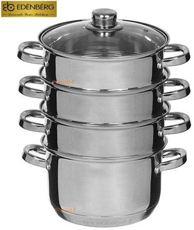 Garnek Edenberg EB 8907 22 cm garnki do gotowania na parze