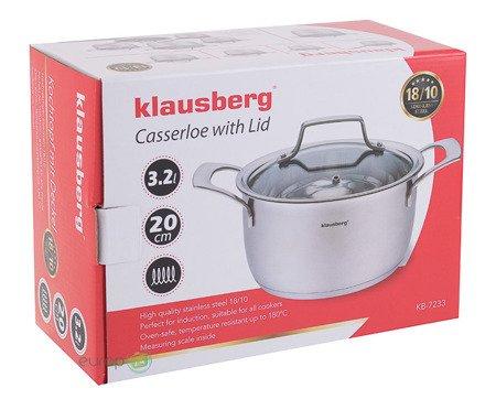 Garnek z pokrywką Klausberg KB 7233 pojemność  3.2 L