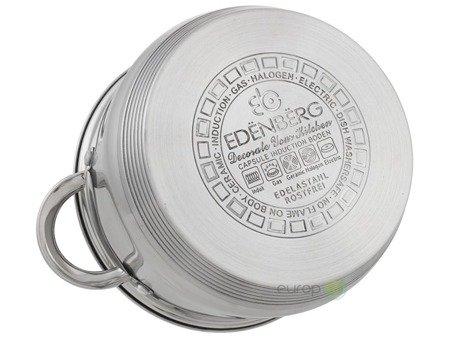 Garnki Edenberg EB 4020 12 zestaw garnków stalowych indukcyjnych