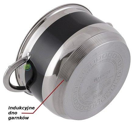 Garnki Edenberg EB 9980 Rondel Zestaw garnków indukcyjnych 12 elementów Czarne