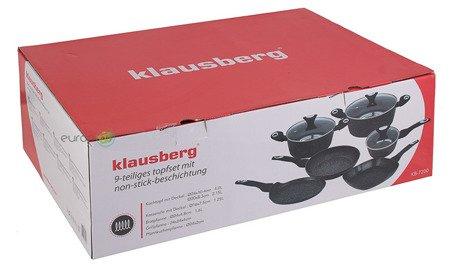Garnki Marmurowe Klausberg KB 7200 Zestaw garnków Indukcja