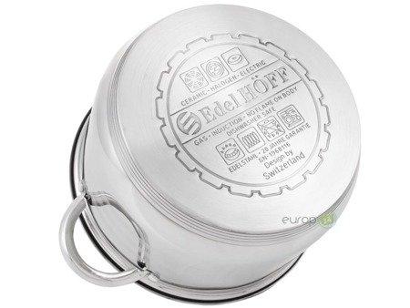Garnki stalowe EdelHoff EH 9125 Zestaw garnków indukcyjnych