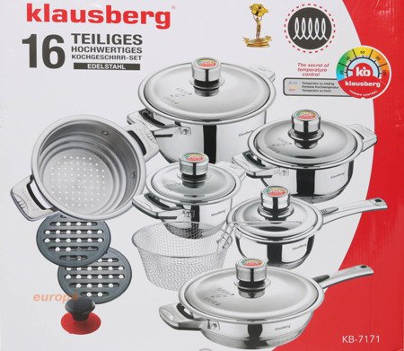 Garnki stalowe Klausberg KB 7171 Zestaw garnków stalowych