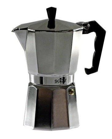 Kawiarka 150 ml ELM 501 kafetiera 3 ZAPARZACZ do kawy srebrna