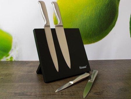 Magnetyczny stojak Rossner T 8097 na noże kuchenne Czarny
