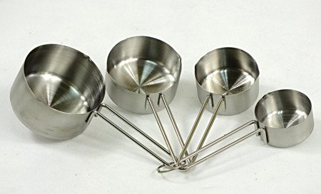 Miarki Kinghoff KH 4025 kubki kuchenne stalowe pomiarowe łyżczki x4