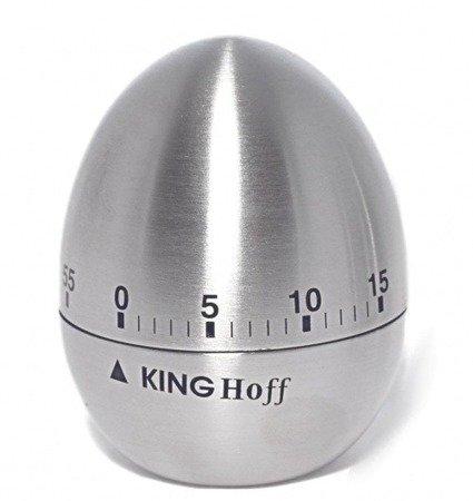 Minutnik Kinghoff KH 3131 stalowy+satynowy kuchenny zegar