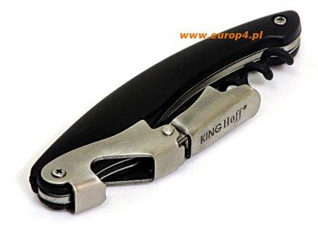 Nóż otwieracz Kinghoff KH 4600 korkociąg wielofunkcyjny stal