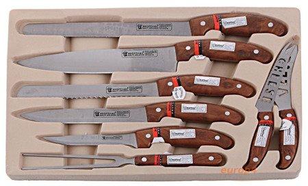 Noże kuchenne stalowe w walizce Switzner SW 5001 sztućce
