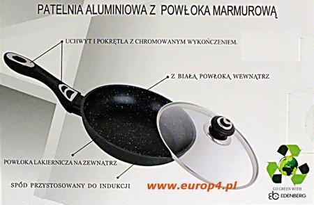 Patelnia Edenberg EB 9001 c - 20 cm Ceramiczna powłoka marmurowa