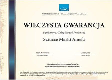 Sztućce Amefa Astoria 1249 5 elem dla 1 osoby stal szlachetna 18/0