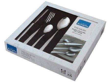 Sztućce Palmon 8410 Amefa zestaw 24 elem dla 6 osób w pudełku 18/10