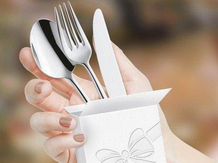 Sztućce deserowe do restauracji Amefa Cube 8020 2 szt dla 1 osoby na wesela do domu