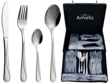 Sztućce obiadowe Amefa Portland 1414 65 cz dla 12 osób w walizce