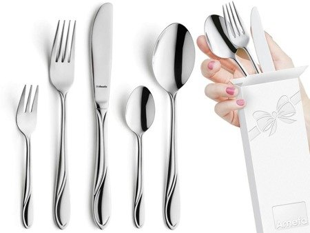 Sztućce obiadowe Amefa Whisper 1405 5 elementy dla 1 osoby 18/0
