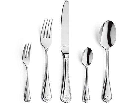Sztućce obiadowe masywne Amefa Duke 5280 30 elem / 6 osób stal 18/10
