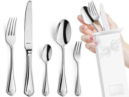 Sztućce obiadowe masywne Amefa Duke 5280 60 elem / 12 osób stal 18/10
