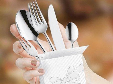 Sztućce restauracyjne Amefa Astoria 1249 30 elem na przyjęcia weselne