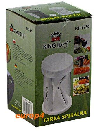 Temperówka Kinghoff KH 3760 do Warzyw Dekoracji Potraw Carving czarna