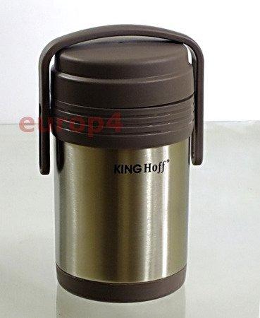 Termos KingHoff KH 4075 OBIADOWY 1,5 lit +3 POJEMNIKI termosy