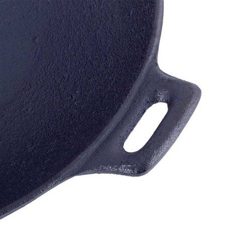 WOK Żeliwny indukcyjny Kamille KM 4814V 30cm z pokrywką