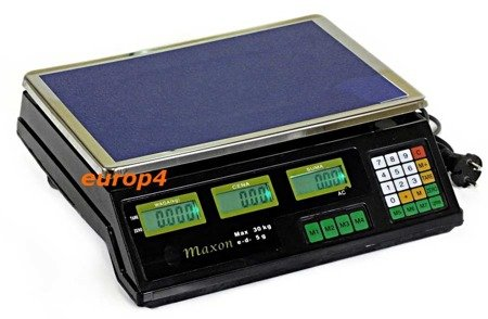 Waga Maxon MX 1000 SKLEPOWA MAGAZYNOWA elektroniczna +akumulatorowa